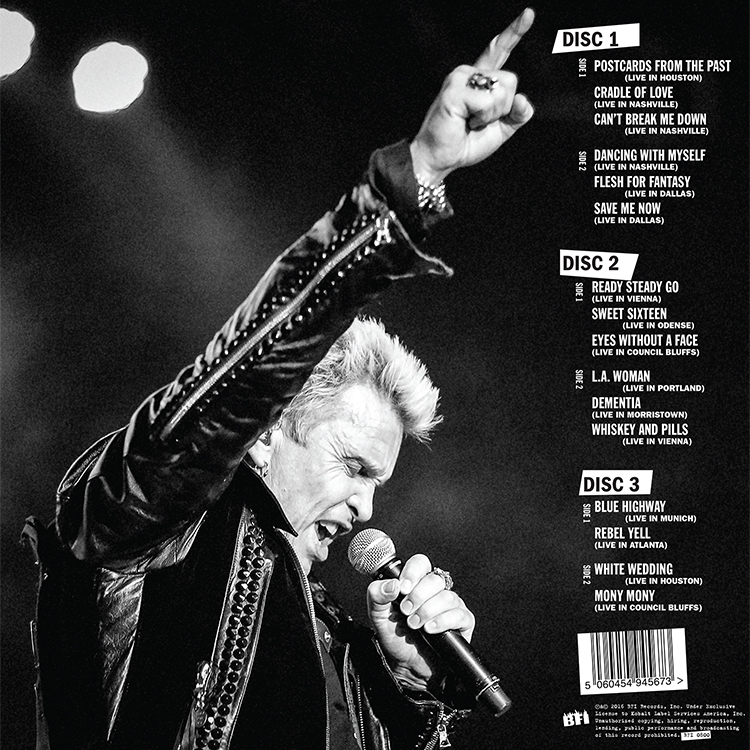 BFI LIVE! Billy Idol Live Album