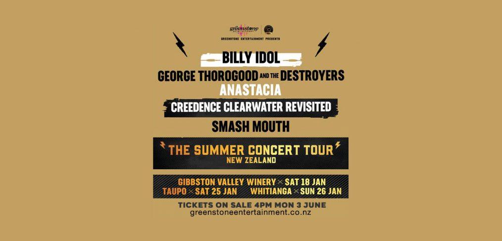 NEW ZEALAND 2020 DATES ANNOUNCED! | Billy Idol