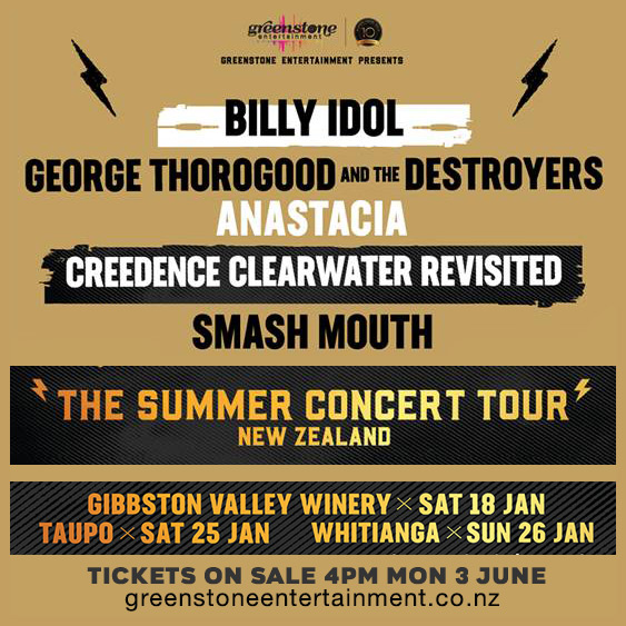 Upcoming Tour Dates 2020 NEW ZEALAND 2020 DATES ANNOUNCED! | Billy Idol