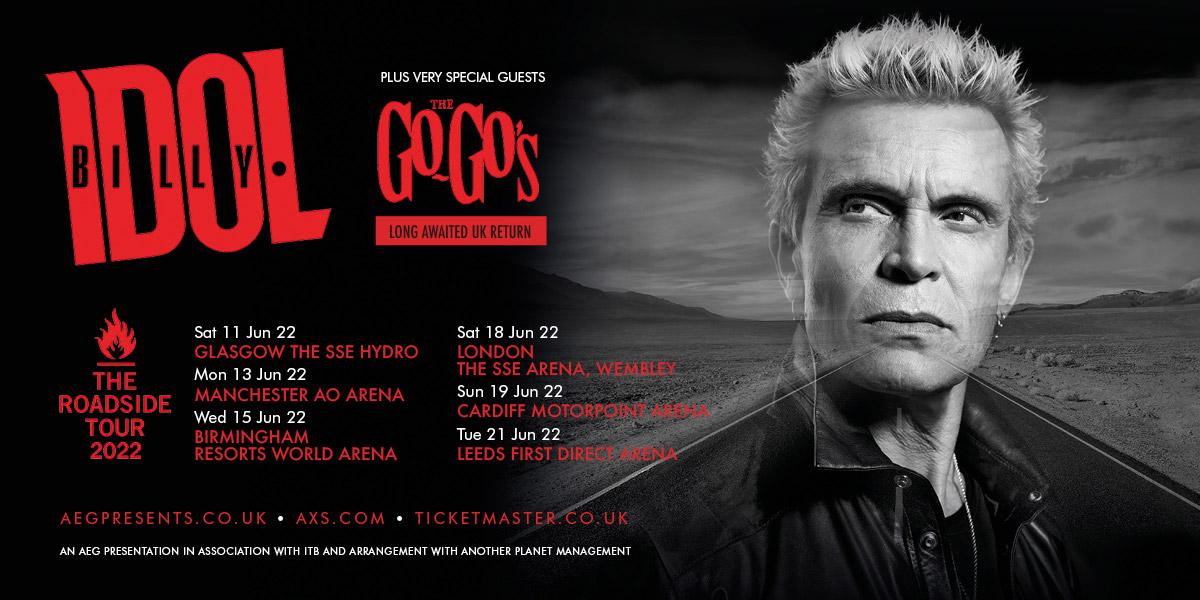Billy Idol UK Tour 2022